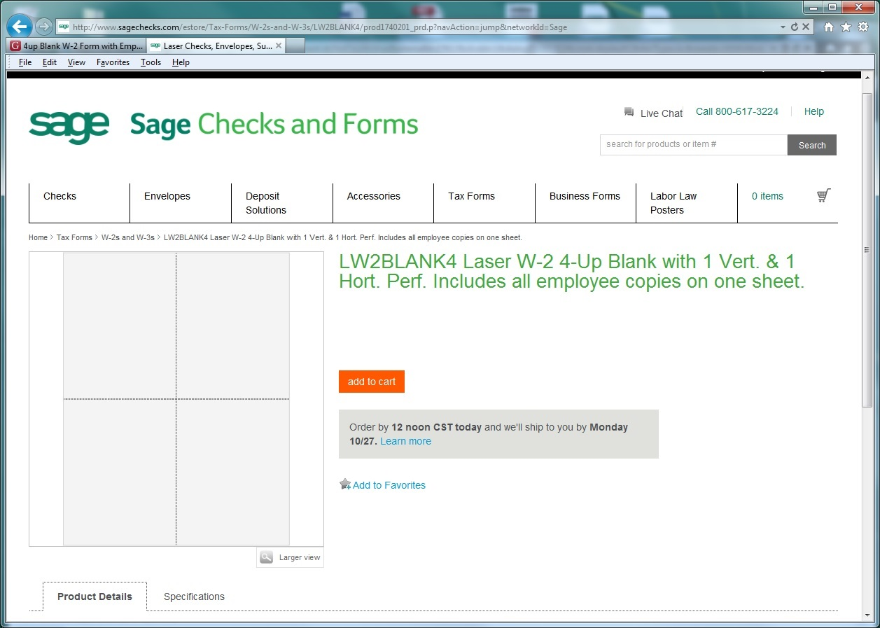 What w 2 and 1099 forms do i order to work with my sage when ordering from sage forms department your w2s are the lw2blank4 laser and lw2bk4dws bundle with envelopes these forms are compatible with sage falaconquin