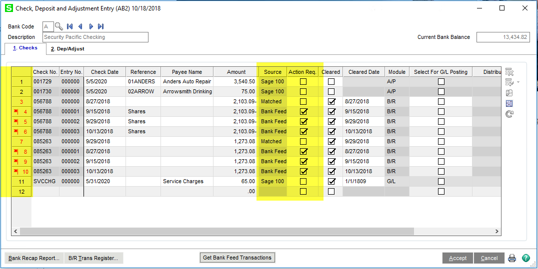 Bank Reconciliation for Sage 100cloud