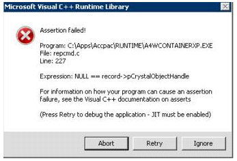 Troubleshooting the Sage 300 ERP UI Container Error Message