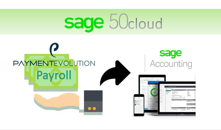 Sage 50cloud: Send PaymentEvolution's payroll entry to Sage