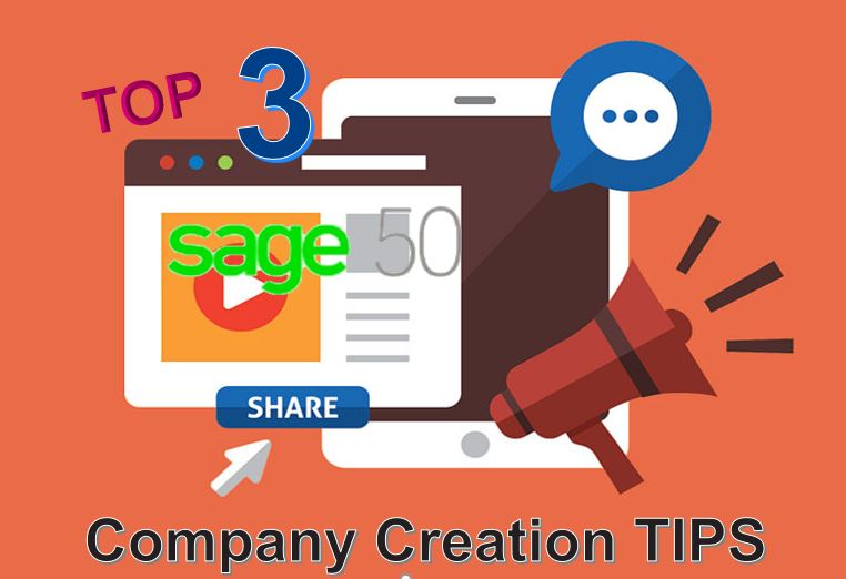 how to open a new company in sage 50