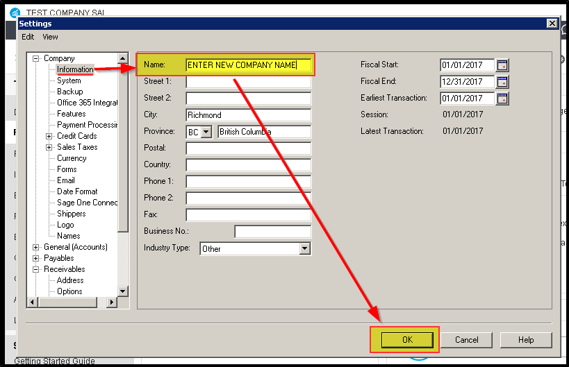 QuickTips! How to Change the Company Name in Sage 50 - Sage 50 CA