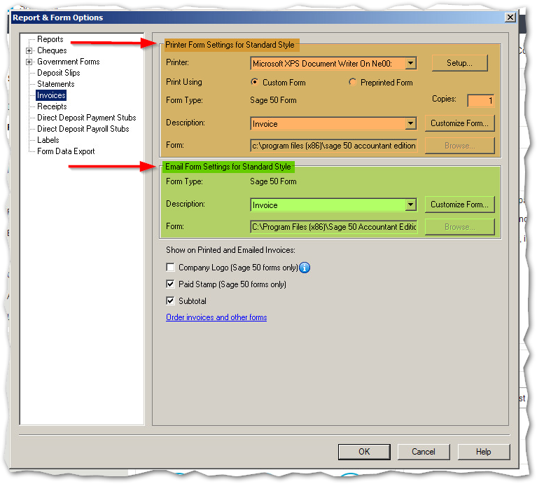 Quick Tips Customize Your Invoice In Sage 50 Sage 50 Ca Support