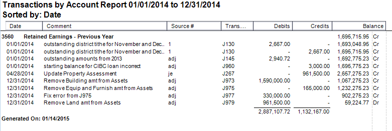 Retained Earnings - a Big Mess :( - Sage 50 CA General
