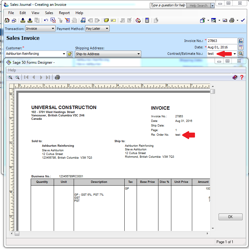 Order No Tab In Sales Creating An Invoice Please Help Sage 50