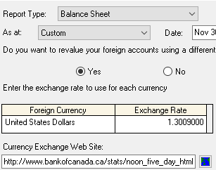 If You Choose To Revalue Your Balance Sheet At A Diffe Exchange Rate 0 Usd Will Display As Cad