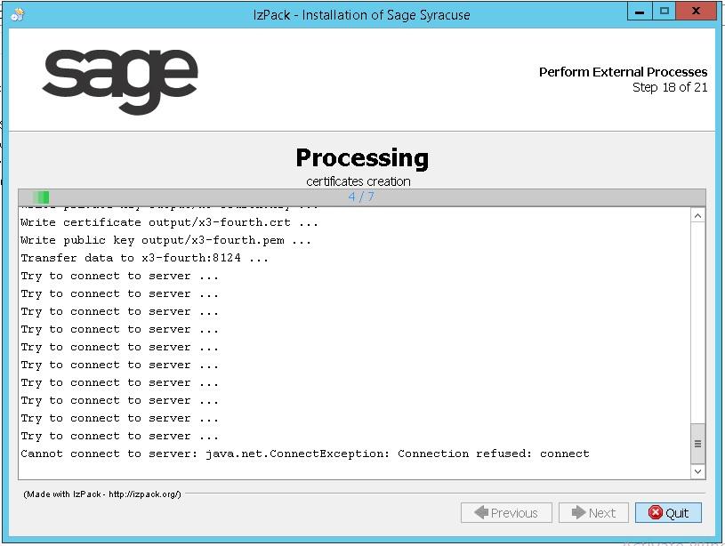 Syracuse installation error - Sage X3 General Discussion - Sage X3