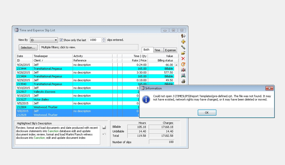 Users cannot print from TimeSlips company-wide - Sage Timeslips ...