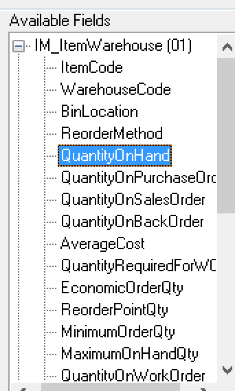 how can i export items with quantity on hand with visual integrator