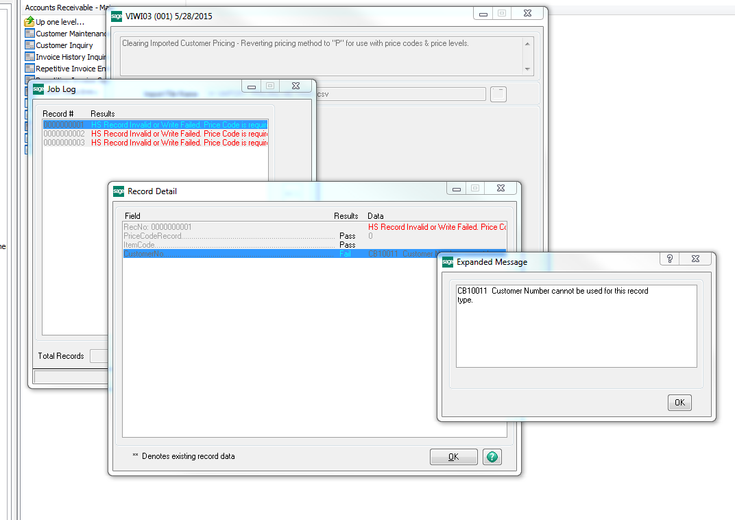 IM_PriceCode issues with Visual Integrator - Sage 100 Technical and