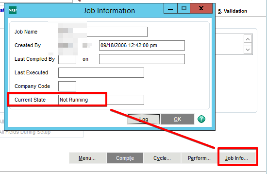 Check status of VI Job (Sage MAS 100) - Sage 100 Payroll, Time