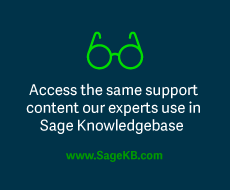 Sage Knowledgebase link