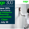 Sage Intelligence Reporting - Intermediate Training  - July 30