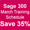 Upcoming Sage 300 training schedule for March 2018
