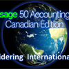 Which version of Sage 50 is best for international use, the Canadian or U.S. version?