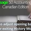 How to adjust opening balances after exiting History Mode in Sage 50 CA