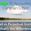 A Sage 50cloud subscription vs perpetual license, what's the difference?