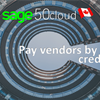 How to set up credit cards for payments to vendors in Sage 50 CA?