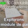 Apprentissage et l'utilisation du module de Paie dans Sage 50 CA