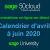 Inscrivez-vous dès maintenant pour une formation Sage 50 - Calendrier d'avril à juin 2020