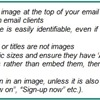 Email Marketing Layout and Design - Layout: Graphic, Text (2/4)
