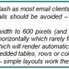 Email Marketing Layout and Design - Layout: HTML, Rendering (1/4)