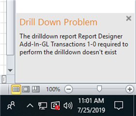 Drill Down Problem - Sage 50 US Intelligence Reporting