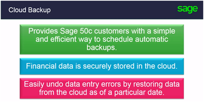 how to create a automatic backup sage 100