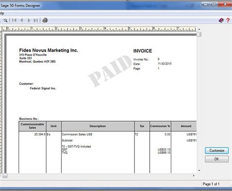 Sales Invoice For Commission Sage 50 Ca General Discussion Sage 50 Accounting Canadian Edition Sage City Community