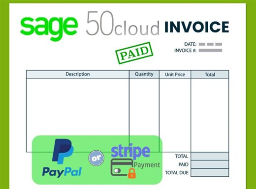 got sage 50cloud setup up the new invoice payments feature sage