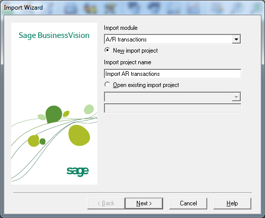 How to Import Transactions into Account Receivable - Sage