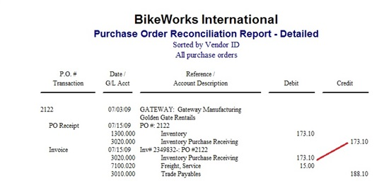 A few tips on reconciling your inventory purchasing receiving (ipr.