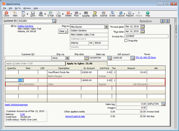 Non-routine transactions in Sage 50 US - Accounting for