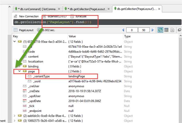 How do you find stuff in Mongo DB? - Sage X3 Support - Sage X3