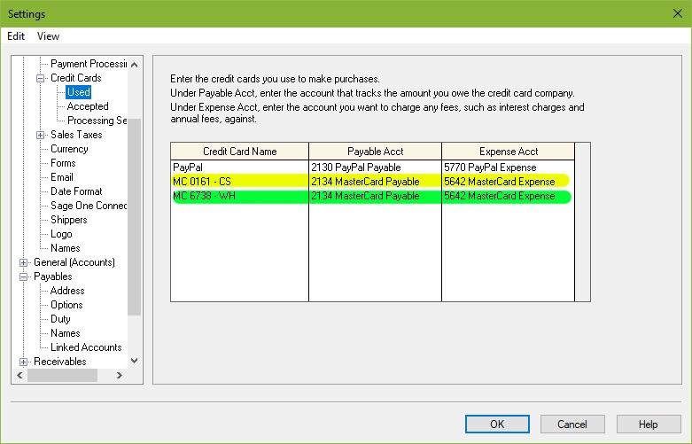 Account Reconciliation of Credit Cards - Sage 50 CA General