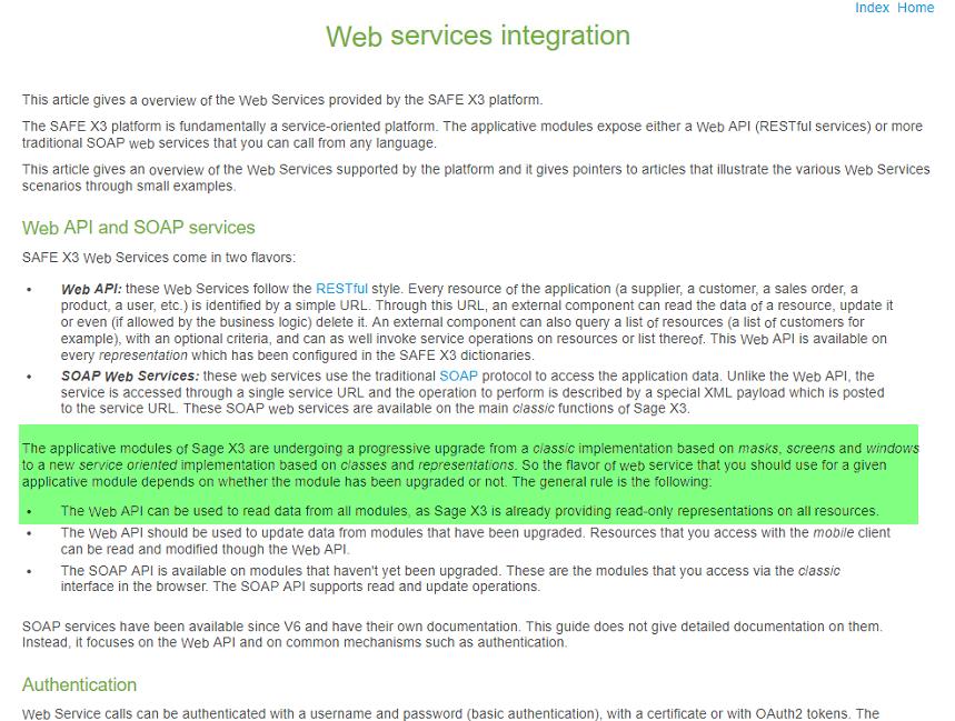 Sage X3 REST WEB Service Company representation - EDIT - Sage X3